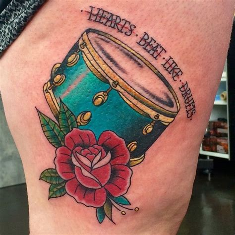 drum tattoos designs custom design by alana drum tatssss
