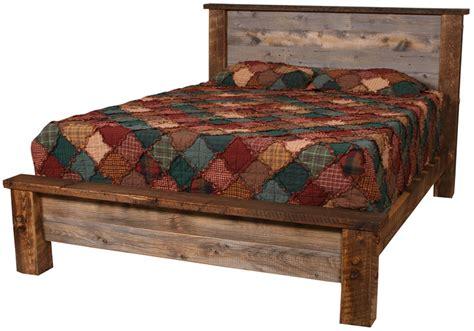 barnwood beds natural barnwood platform bed