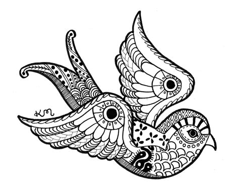 pattern animal tattoo swallow ink drawing print abstract tribal aztec