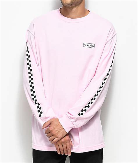 T Shirt Pink Vans vans checkmate pink white sleeve t shirt zumiez