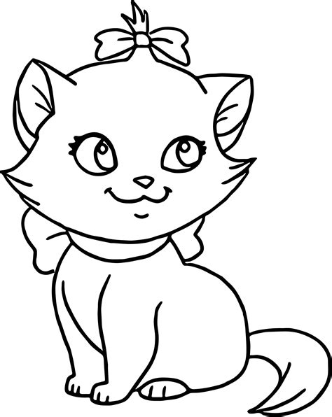 elegant cute cat coloring pages coloring page cute cat