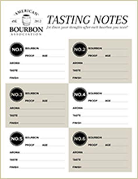 scotch tasting notes template american bourbon association