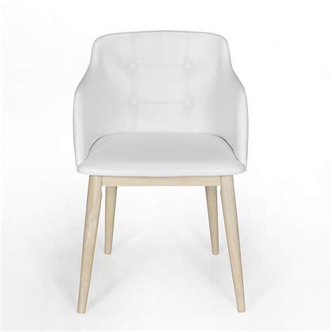 chaise de s 233 jour capitonn 233 e blanche cork consoles