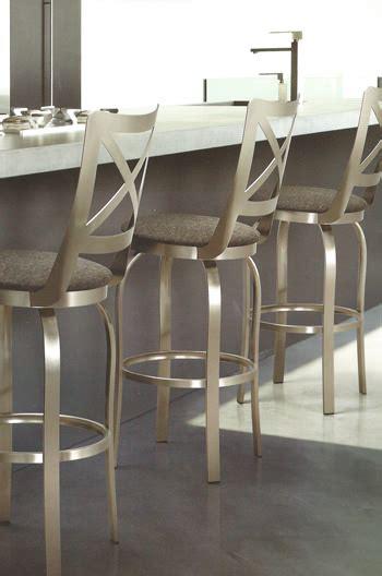 trica grace 30 brushed steel bar stool w swivel trica chateau swivel stool w brushed steel cross back