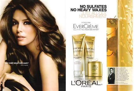 loreal hair commercial is it a kardashian give good hair l oreal evercreme demeter clarc