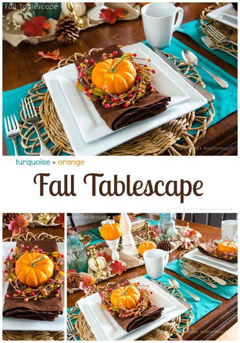 orange and turquoise tablescape turquoise with orange craftaholics anonymous 174 thanksgiving free printable