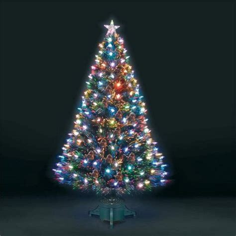 buy 6ft superstar green fibre optic led christmas tree