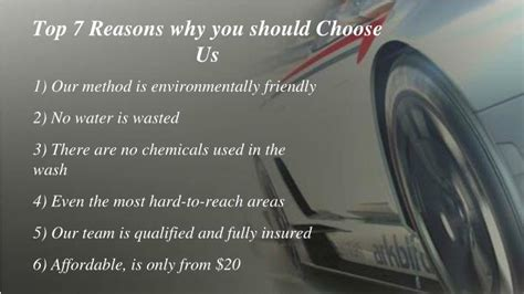 7 Reasons Why You Should Only For by Ppt Mobile Car Cleaning Company In Melbourne Powerpoint