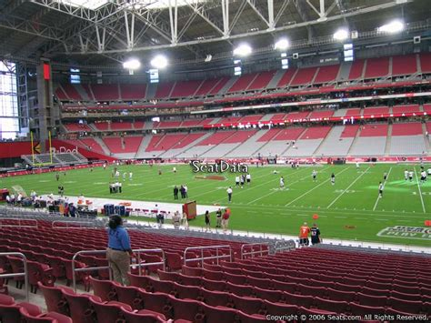 section 8 football university of phoenix stadium section 126 seat views