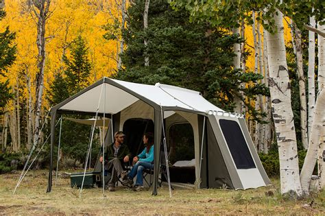 permanent tent cabins kodiak canvas cabin tent 6133 6 person 9x12 with deluxe