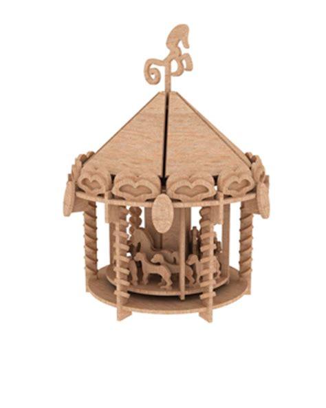 3d Houses For Sale the carousel puzzles amp artistic makecnc com