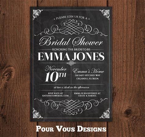 chalkboard invitation templates word excel  formats
