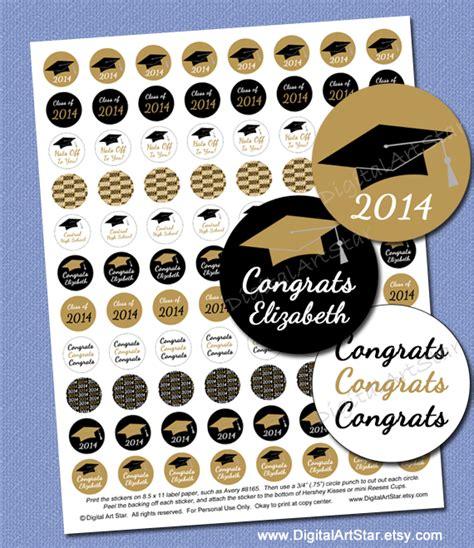 printable graduation stickers 2015 digital art star printable party decor gold black