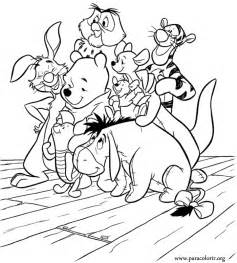 Beautiful Coloring Page With Winnie The Pooh And His Friends Piglet  sketch template