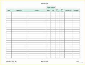 5 irs mileage log printable receipt