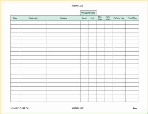 mileage log form mileage log sheet christopherbathum co