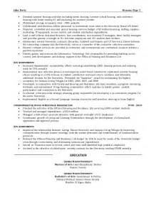 Director Of Operations Resumes by Resume Sle Director Of Operations