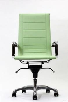 mint green desk chair malibu high back office chair in vinyl with stitched