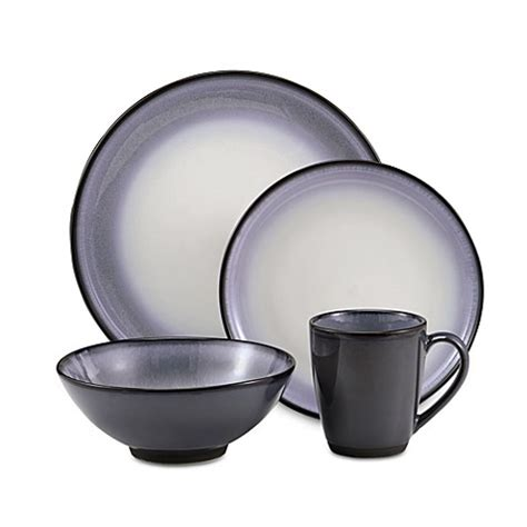 Bed Bath And Beyond Dish Sets Buy Sango 174 Concepts 16 Dinnerware Set In Eggplant From Bed Bath Beyond