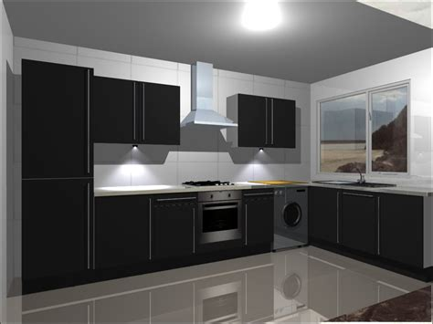 kitchen units complete with high gloss black doors ebay