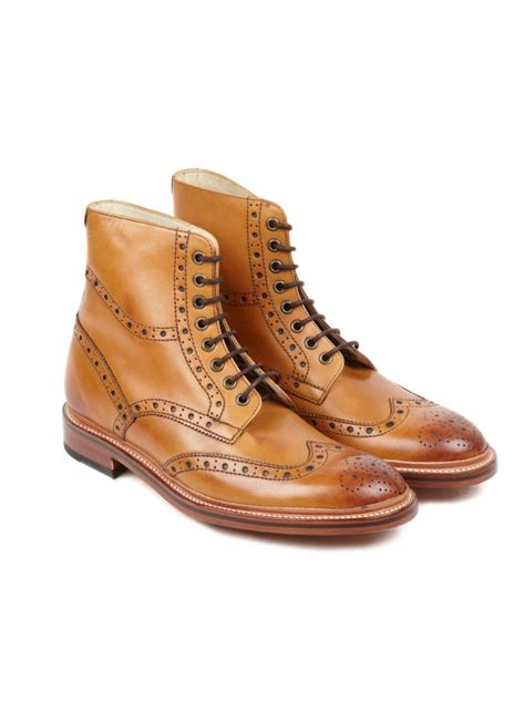 leather sole boots oliver sweeney wren leather sole brogue boot