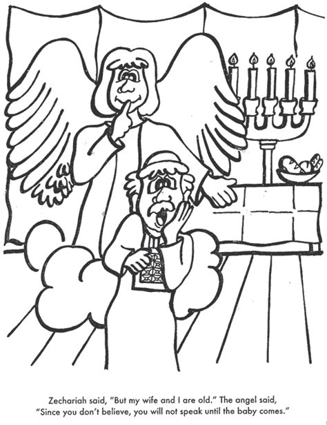 coloring page zechariah zechariah and elizabeth bible coloring page for kids to
