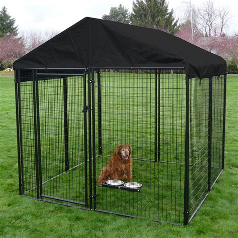 Tractor Room Decor Lucky Dog Black Welded Wire Dog Kennel Dog Kennels At