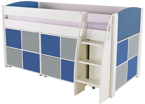 Blue Sleeper by Buy Stompa Blue Mid Sleeper Including 3 Multi Cubes With 2