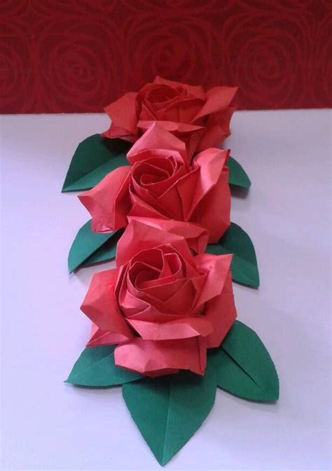 Origami Paper Roses - 25 best ideas about origami on origami