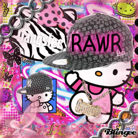 hello kitty gangster wallpaper gangster kitty picture 117710135 blingee com