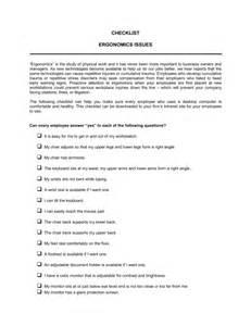 Office Chair Ergonomic Checklist Checklist Ergonomics Template Sle Form Biztree