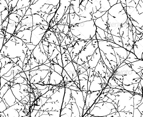 black and white tree pattern seamless vector texture of the branches by ultrapro