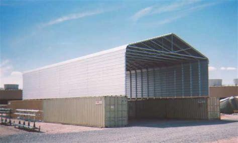large industrial metal carport
