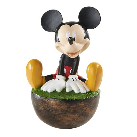 disney mickey mouse wobble statues outdoor living outdoor decor lawn ornaments statues