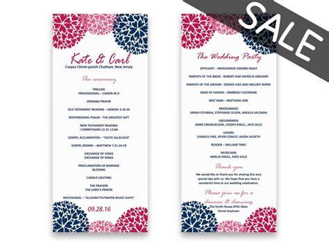 sle wedding program templates sale wedding program template sale printable