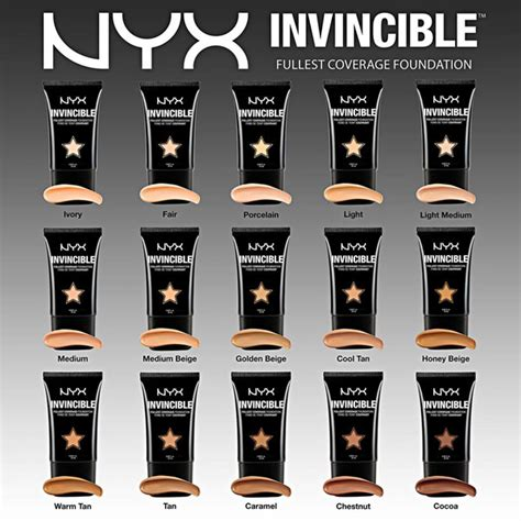 Nyx Invincible Fullest Coverage Foundation nyx base makeup collection 2014 trends and