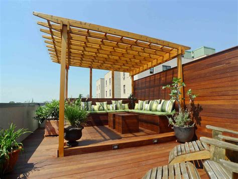 pergola new york new york rooftop terrace with covered pergola featuring