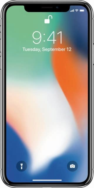 apple iphone x 256 gb plata at t