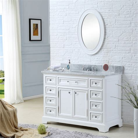milzen cabinetry white slab bath vanity without counter or sink