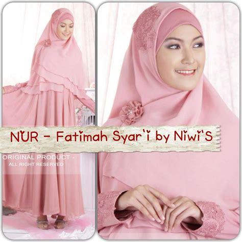 Gamis Abaya Syar I Fateema Busui Pink Bergo baju pesta remaja fatimah syar i sa ma ra boutique