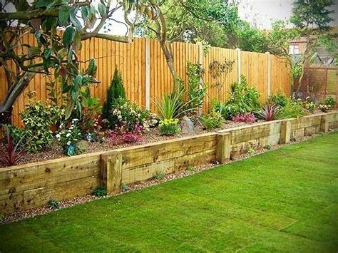 raised flower garden ideas 25 best ideas about landscaping along fence on