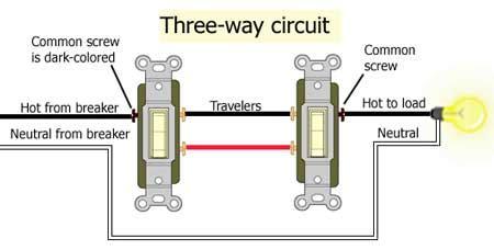 3 way switch common wire wiring diagrams schematics
