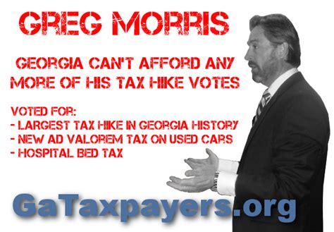 Morris County Property Tax Records Representative Greg Morris Hasn T Been Truthful With Voters Taxpayers United