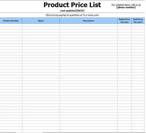 product price list template with pictures product price list template with pictures choice image