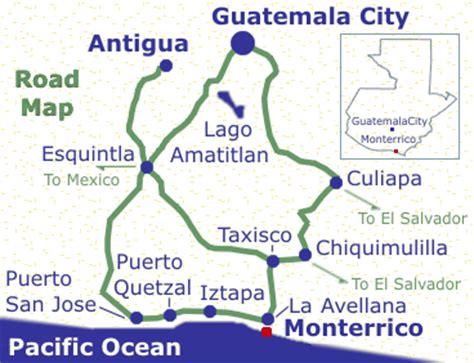 san jose guatemala map monterrico map monterrico maps road maps