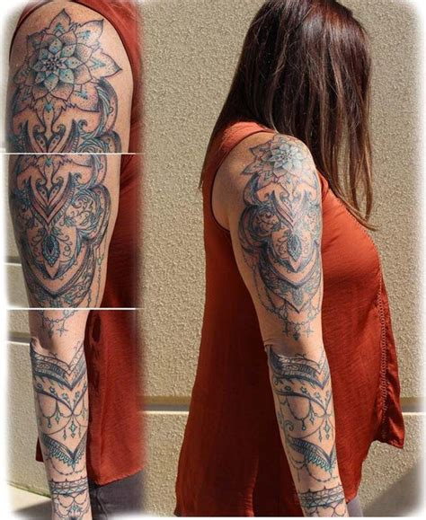 tattoo body art studio ornamental sleeve by tanner vendal tattoos