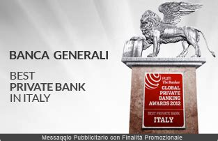 banche generali generali premiata come best bank in italy