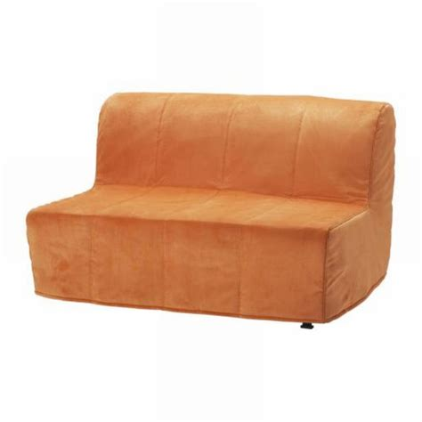 orange slipcovers ikea lycksele sofa bed slipcover cover henan orange quilted