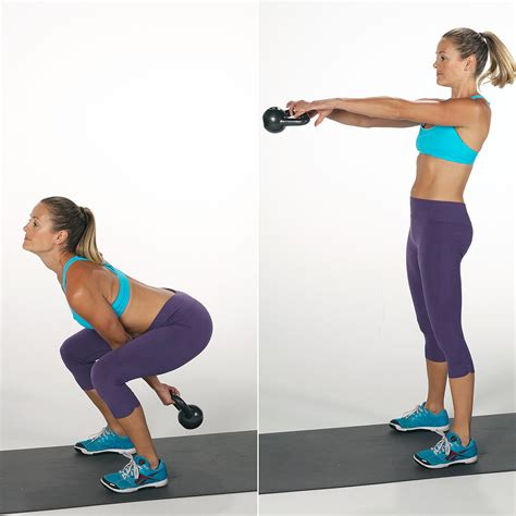 Kettlebell Squat And Swing 7 Kettlebell Moves That Burn