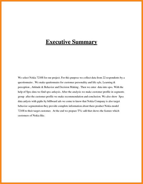 12 executive summary exle musicre sumed